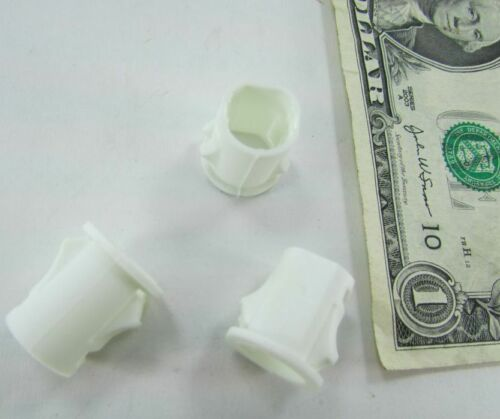 """Lot 100 White Snap-In Wire Cable Bushings 1//2/"""" OD x 7//16/"""" ID x .60 Long Sleeves"""