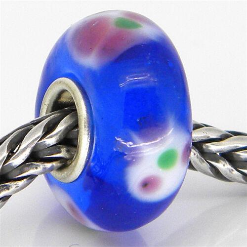 Murano Glass Bead Authentique Plaqué Argent 925 Charme Européen Perles 2674