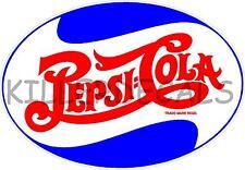 """PE207 24/"""" 60/'S PEPSI  CAP PC-207 COOLER coca POP soda cola machine decal"""