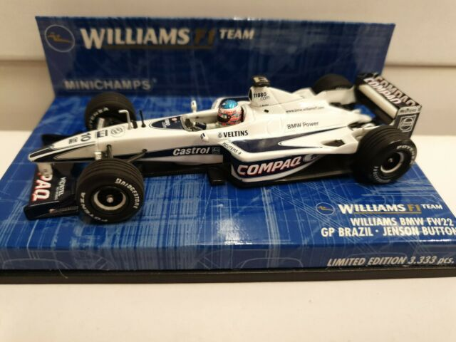 Minichamps Escala 1/43 430 000030 Williams BMW FW22 Jenson Button GP Brasil