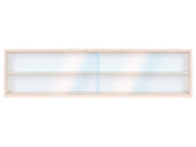 /Échelle N et H0 Collection 2 Vitres Plexiglas Coulissantes 3 /Étag/ères V110.3 Vitrine Murale en Bois de Bouleau Non Trait/é 110 x 30 x 8,5 cm Trains Miniatures Voitures