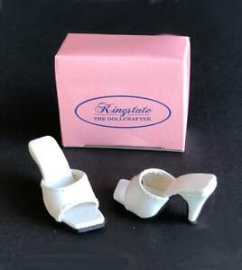 Shoes-Sandals-for-16-034-Tyler-Gene-Dolls-Slip-on-Kingstate-White-New-in-Box