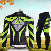 Mens Cycling Set Bicycle Bike Outdoor Sports Long Sleeve Jersey+long Pants M-3xl