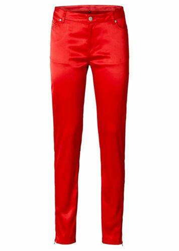Rainbow Pantalon Brillance-Optik Tube personnage souligne satin stretch rouge taille 40 945332