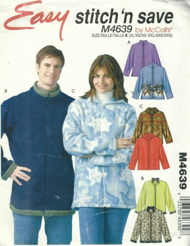 Stitch /'n Save 4639 Unisex Jackets  Sewing Pattern