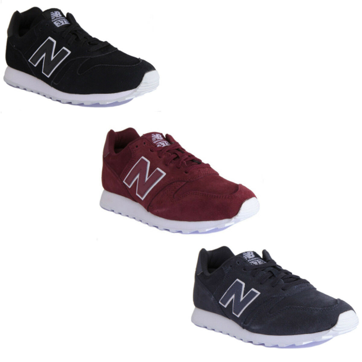 New Balance MI373TN Modern Classic Men Suede Leather Black White Trainers 7-12.5