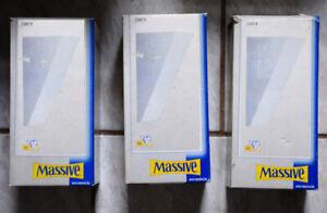3 x Wandlampe mit Metallschirm, Halogen von Massive