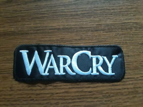 WARCRY,SEW ON WHITE  EMBROIDERED PATCH