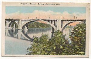 Cappelen-Memorial-Bridge-MINNEAPOLIS-MN-Vintage-Minnesota-Postcard