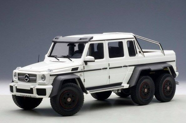 76303 AUTOart 1:18 Mercedes-Benz G63 AMG 6x6 Matt White