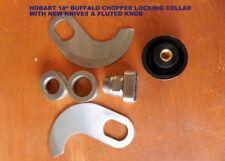Hobart 18 Buffalo Chopper Locking Knife Set With New Knives Amp New Fluted Knob