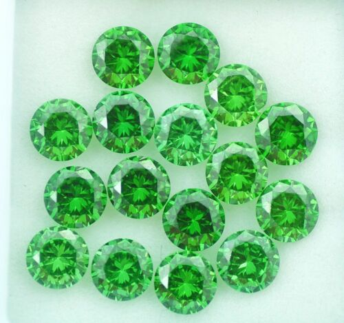 13.30 Ct Natural Green Color Zircon Round LOT 20 PC Ring Size Gems Ggl Certified