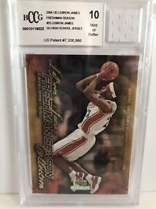 LeBron-James-Rookie-2004-Upper-Deck-Freshman-Season-Game-Used-HS-Jersey-BCCG-10