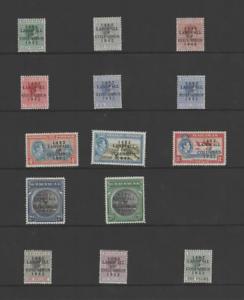 BAHAMAS 1942 LANDAFLL OF COLUMBUS SET (SG 162-175a)  LMM