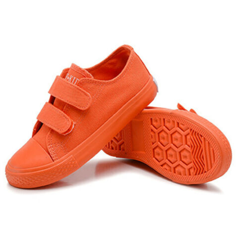 Boys Girls Canvas Candy Colors Shoes Plimsolls Sneaker Skate Shoes Trainer Kids