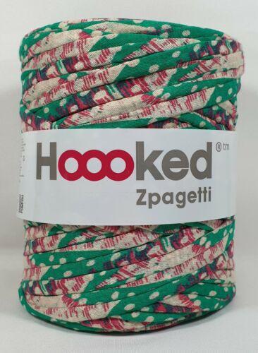 Hoooked /'zpagetti sustancia Garn Bahama Green Prints//verde multicolor/' nuevo tejer ganchillos