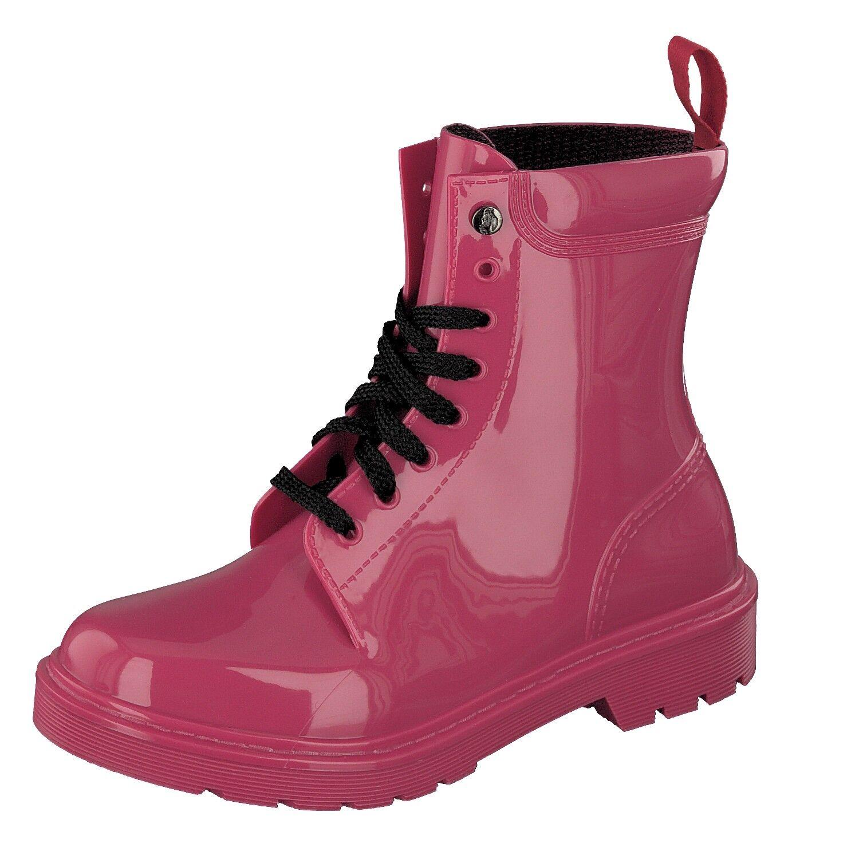 Gosch Shoes Sylt Damen Schuhe PVC Schnürstiefel Boots 7105-300-5 Rot Wasserfest