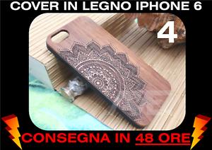 Detalles de Cover Legno Iphone 6 6s Case Funda Vero Legno Naturale Incisioni Rilievo Figure