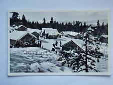 DALARNA skidåkning SVERIGE SVEZIA Sweden ski old postcard