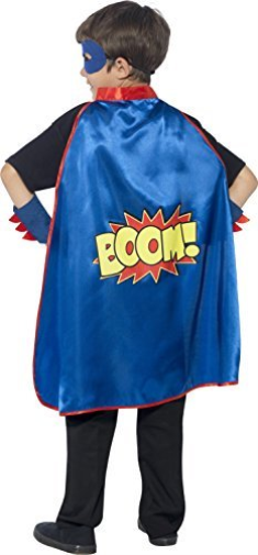 Super Hero Kit, Blue, with Cape, Eye Mask & Cuffs (US IMPORT) COST-ACC NEW