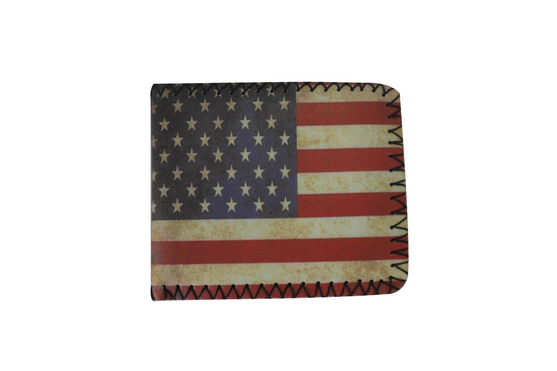 United States American Themed Wallet Bifold New