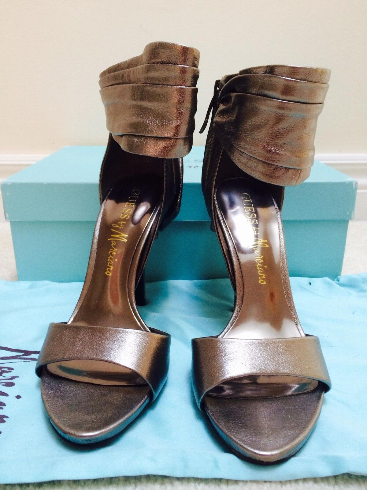 NIB MARCIANO guess ROXANNE BOW LEATHER SHOES PEWTER SIZE SIZE PEWTER 7 7.5 HOT 65b922
