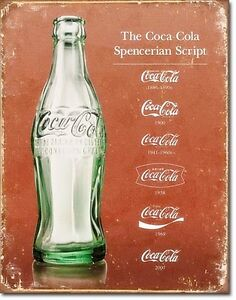 Coca-Cola-Schriftzug-Evolution-Metall-Schild-400mm-x-305mm-De