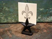 Cast Iron Star Photo Place Card Wedding Party Holder Home Western Office Decor