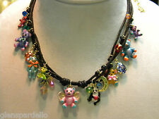 Kirks Folly authentic Teddy Bear Time Cord Necklace limited production fast ship