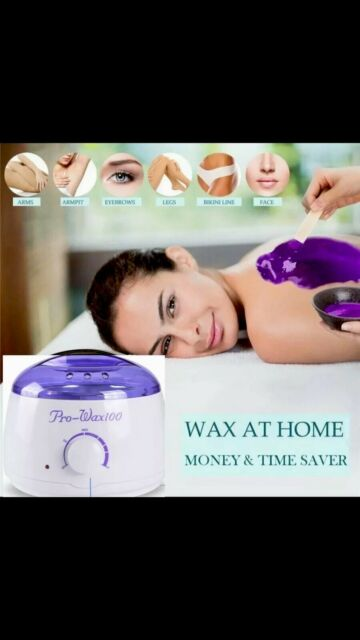 Hot Wax Warmer Hair Removal Waxing Kit For Facial Bikini Area And