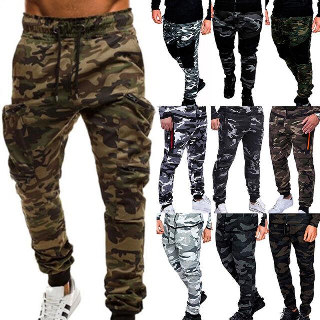 Men's Camouflage Cargo Combat Trousers Tactical  Sports Slacks Military Pants