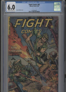 FIGHT COMICS #82 SOLID GRADE CGC MAURICE WHITMAN COVER EXPLOSIVE COVER GEM