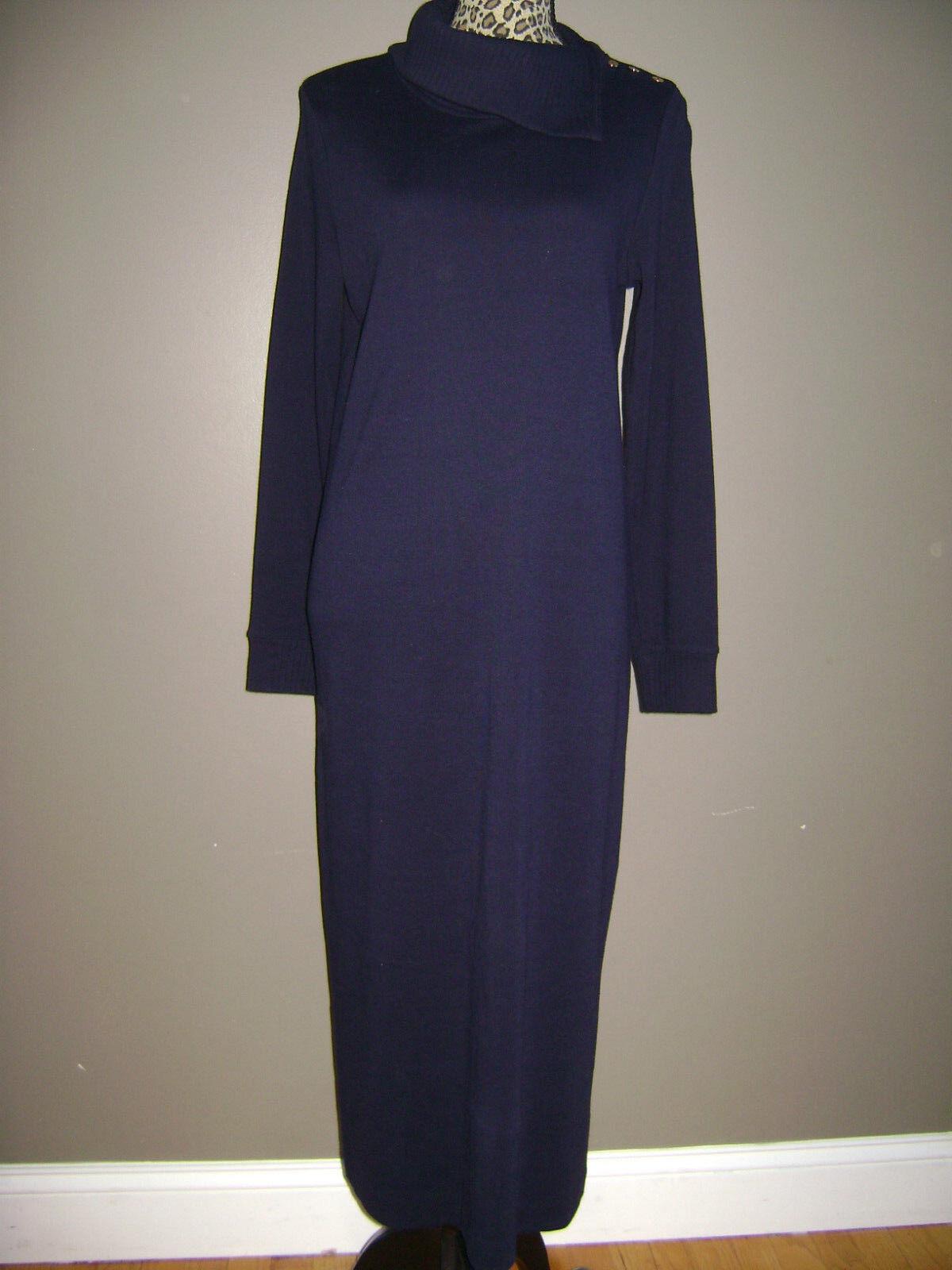 RALPH LAUREN WOMEN LONG SLEEVE DRESS size S BLUE … - image 1