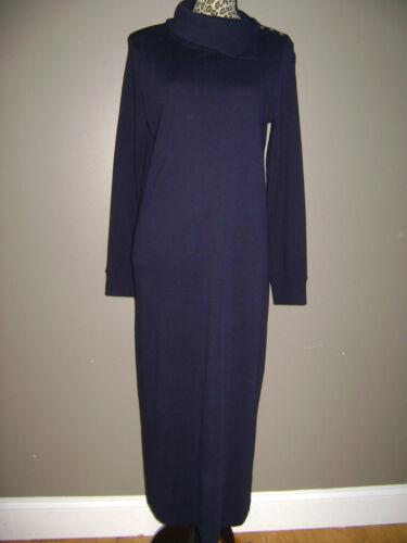 RALPH LAUREN WOMEN LONG SLEEVE DRESS size S BLUE 1