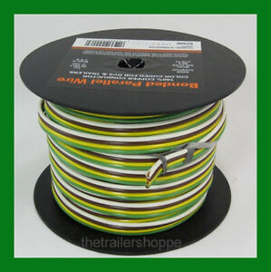 trailer light cable wiring harness 14 4 14 gauge 4 wire bonded rh ebay com Parallel Circuit Wiring Lights in Series Wiring Diagram