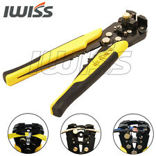 IWISS Self-Adjusting Wire Stripping Tools Cable Stripper for 10-22 AWG  Cutter