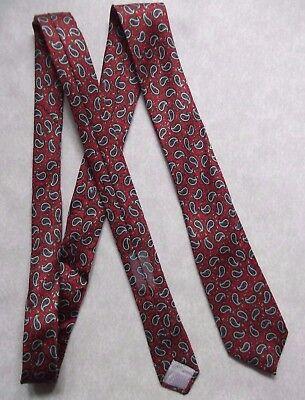 Il Prezzo Più Economico Vintage Tie Cravatta Da Uomo Retrò 1980s Rosso Paisley- Alta Sicurezza