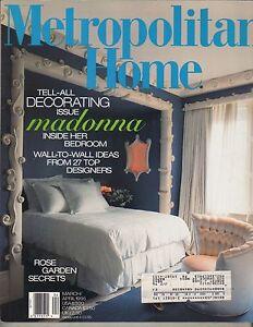 Image Is Loading MADONNA Metropolitan Home 3 95 Magazine INSIDE HER