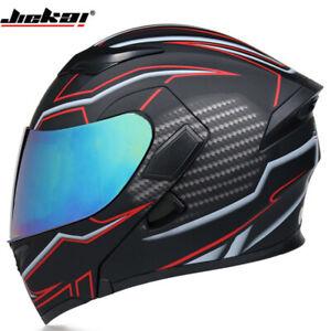DOT Motorcycle Helmet Flip Up Modular Helmet Full Face Dual Visor Motocross Race