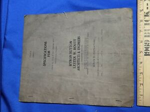 Rare-Funeral-Home-Washington-IN-Architects-Plans-Contract-1941-VTG-Advertising