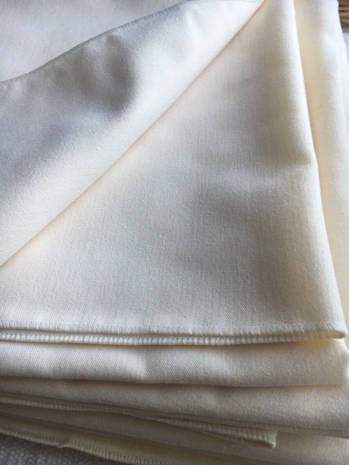 Set of 8 Ivory Table Cloths size 114 x 114 cm
