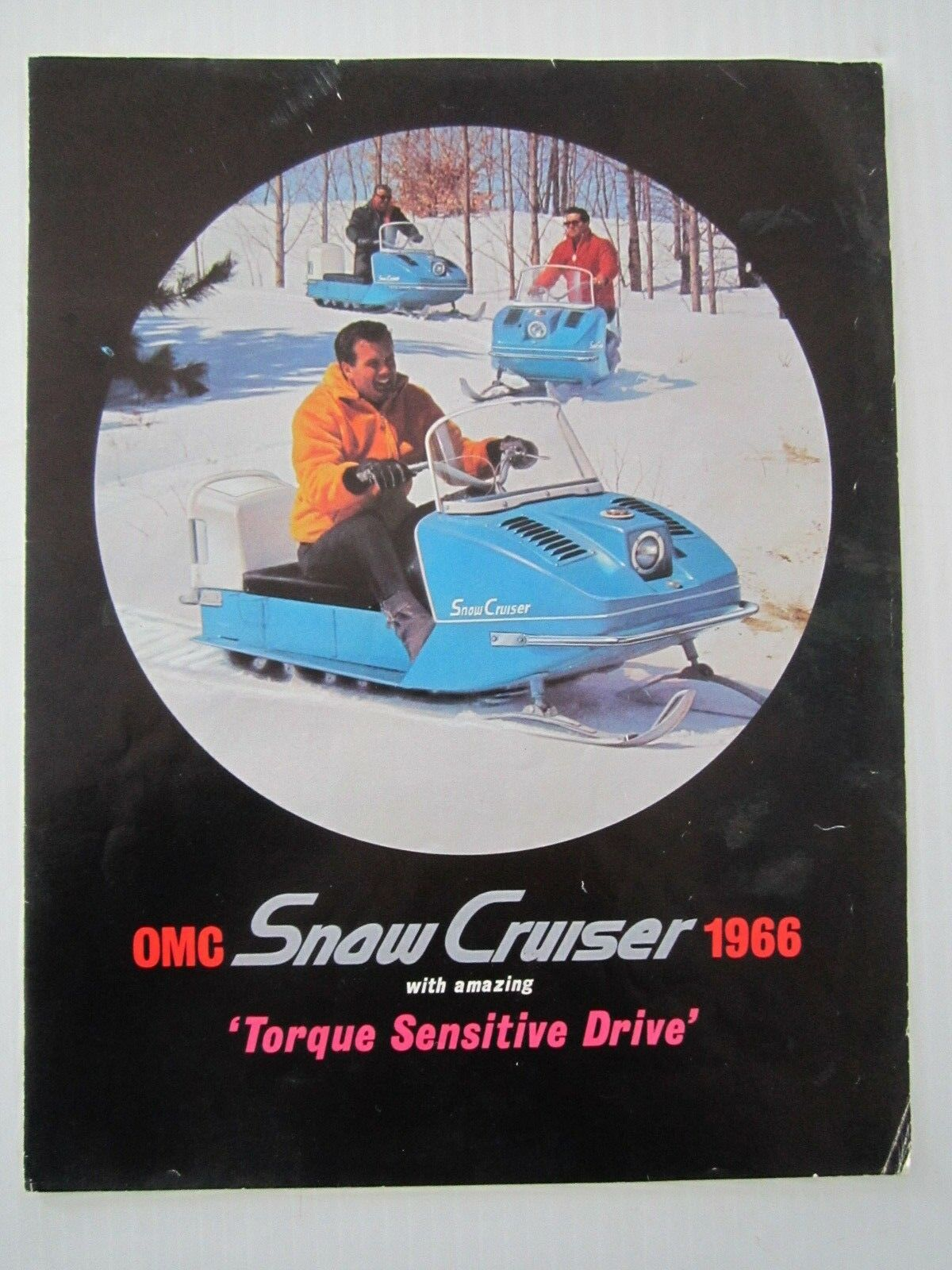 Vintage 1966 Snow Cruiser Snowmobile adgreenising sales brochure Ski-Doo Polaris