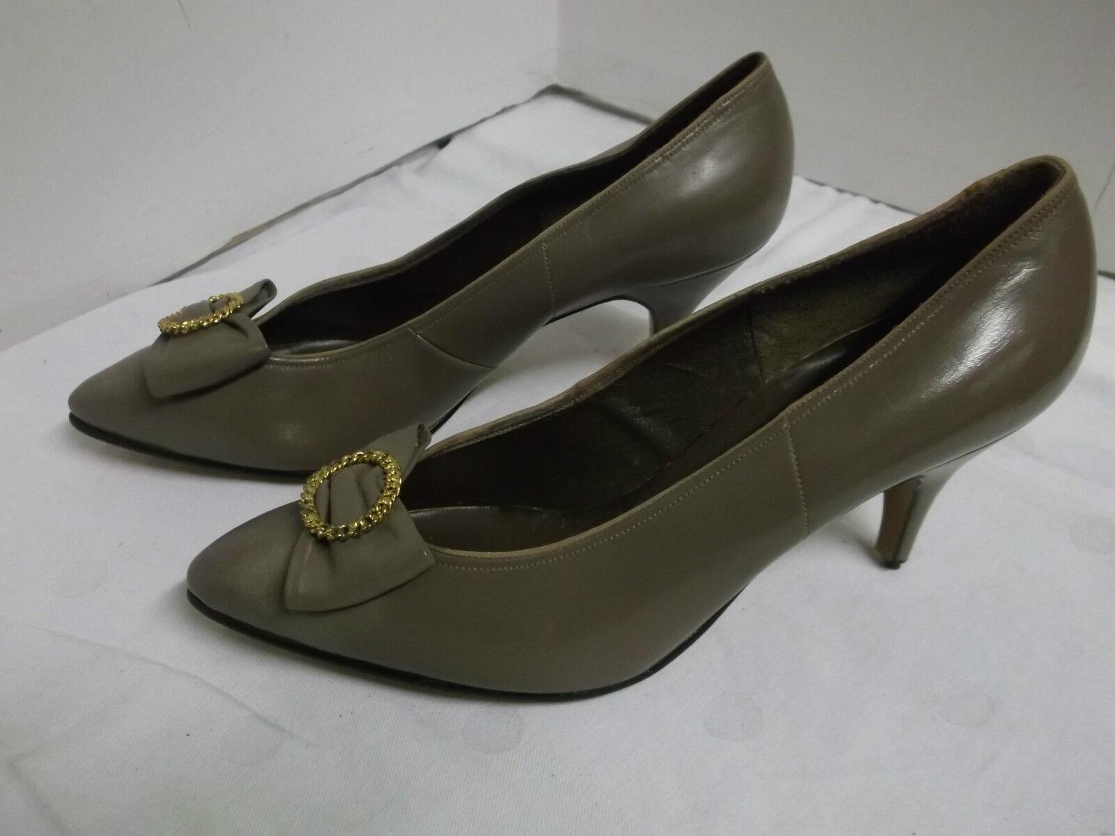 50er 60er Jahre NOS Pumps Damen Schuh Leder True Vintage Gr. 5 = 38 50s Schuhe