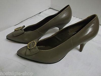 50er 60er Jahre NOS Pumps Damen Schuh Leder True Vintage Gr. 5 = 38 50s schuhe   eBay