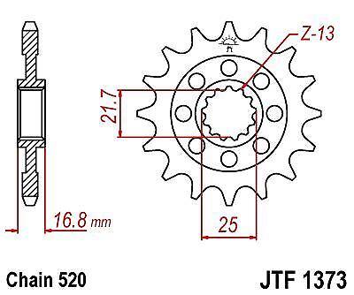 Front Drive Motorcycle Sprocket JTF1373.17 fits Honda NC750 S DCT 14-15