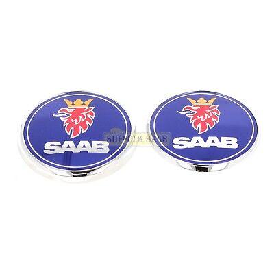 Bonnet /& arrière Emblème 9-3 03-12 4 portes Genuine SAAB Emblème Kit-Wheel Caps