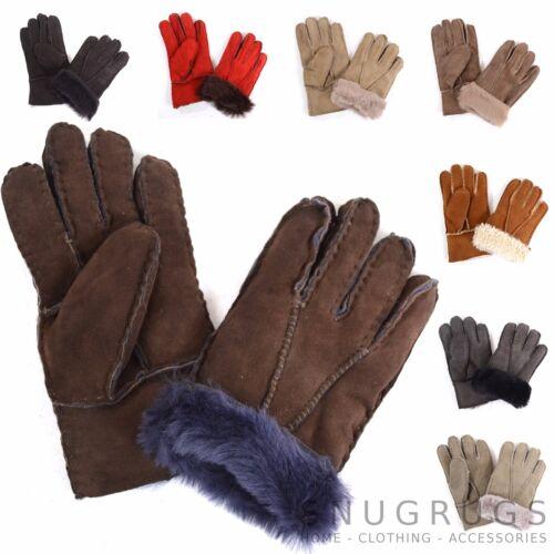 Childrens Kids Soft Genuine Sheepskin Gloves