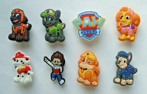8B - CARTOON CHARACTERS inspired by DOG PATROL L1 Pack of 8 SHOE CHARMS