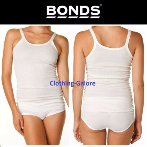 WOMENS BONDS CUMFY TUBE LONG RIB TANK TOP LADIES WHITE STRETCH PLUS SIZE SINGLET