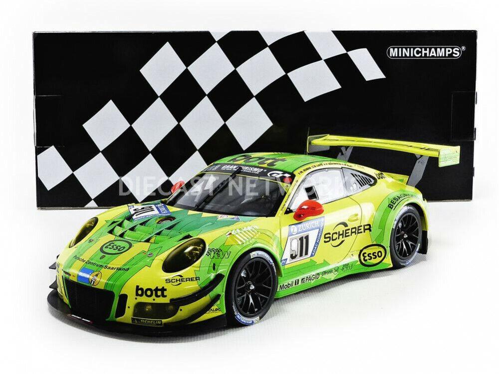 Minichamps Porsche 911 991-2 Gt3 R Manthey Rennsport 24h Nürburgring 2017  911